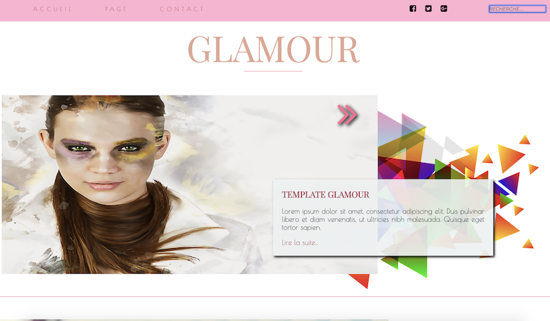 Site Web Glamour